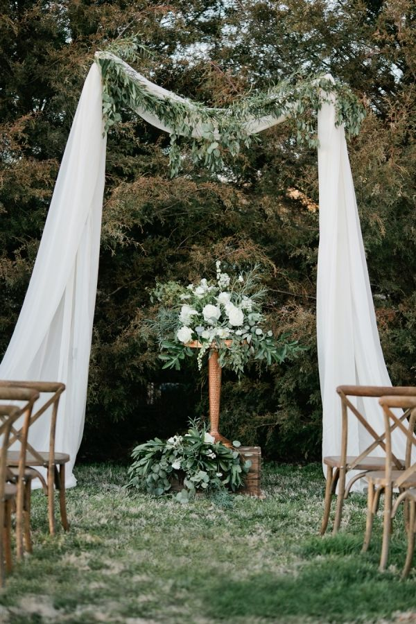 France Wedding Decoration Of A Rural Ceremony